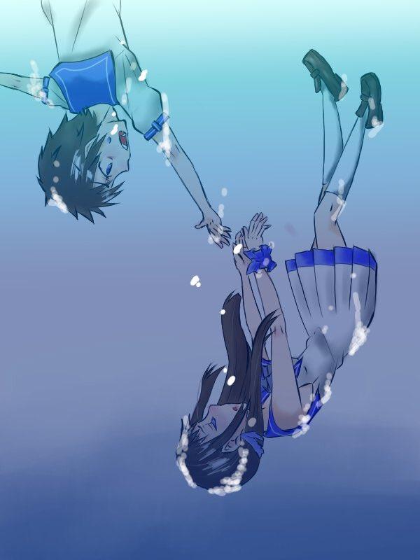 描けた!凪のあすからのまなかと光アニメで一番好きなシーン(前期)また見たくなってきた(*¯艸¯)#液タブ#凪のあすから#