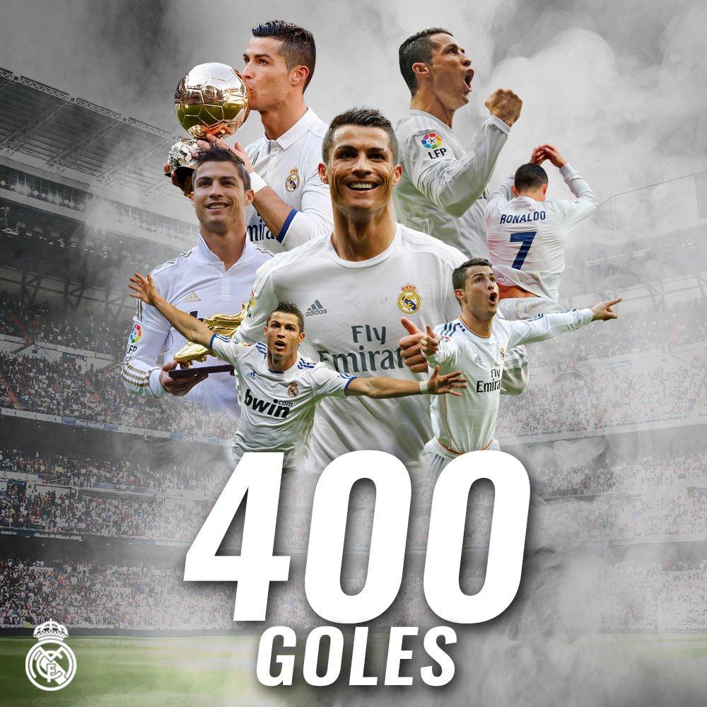 RT @realmadrid: ...398, 399... 400! ⚽👏  ⭐ @Cristiano ⭐  #HalaMadrid https://t.co/p8bwfd2Ui4