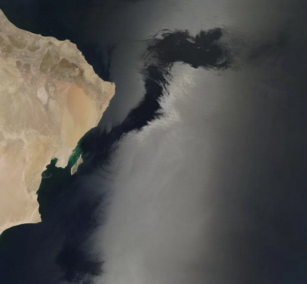 NASA satellite photo shows eerie dark streak across Arabian Sea