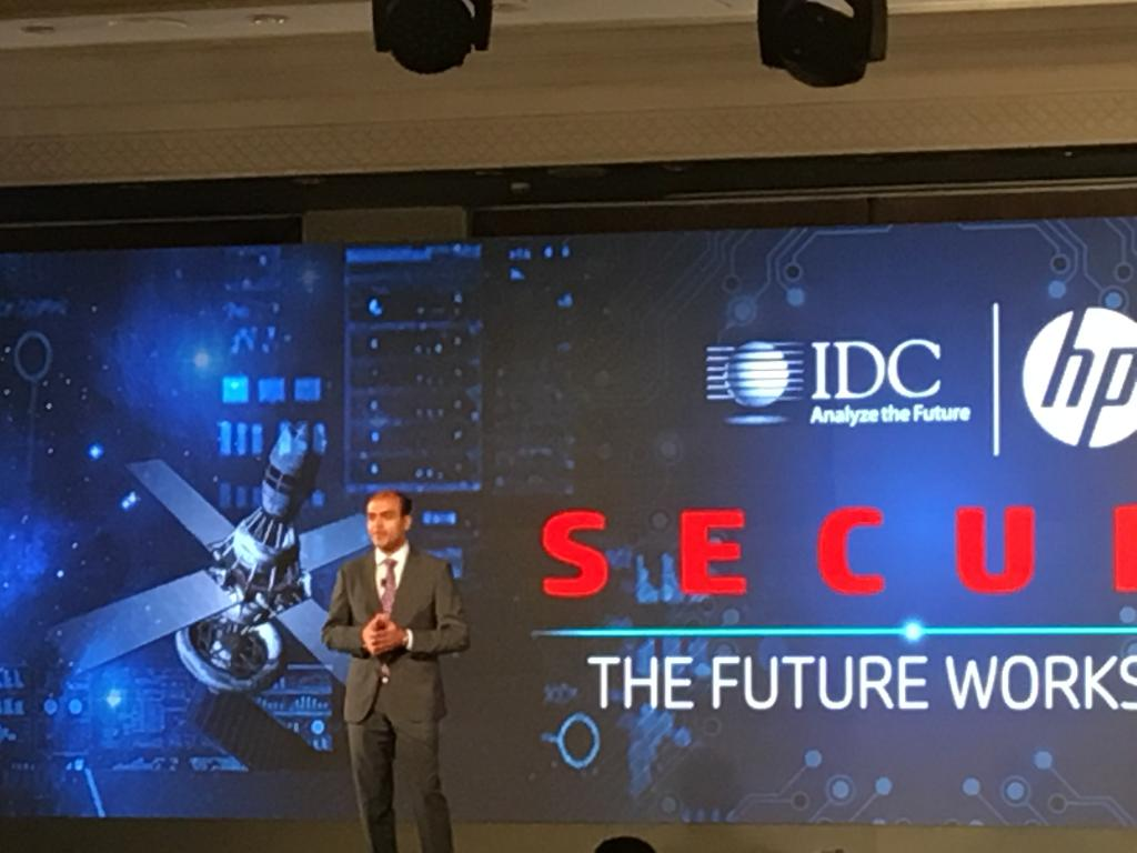 MD, HPIndia, Sumeer Chandra takes the stage as he kicks off the discussion of security at the workplace. https t