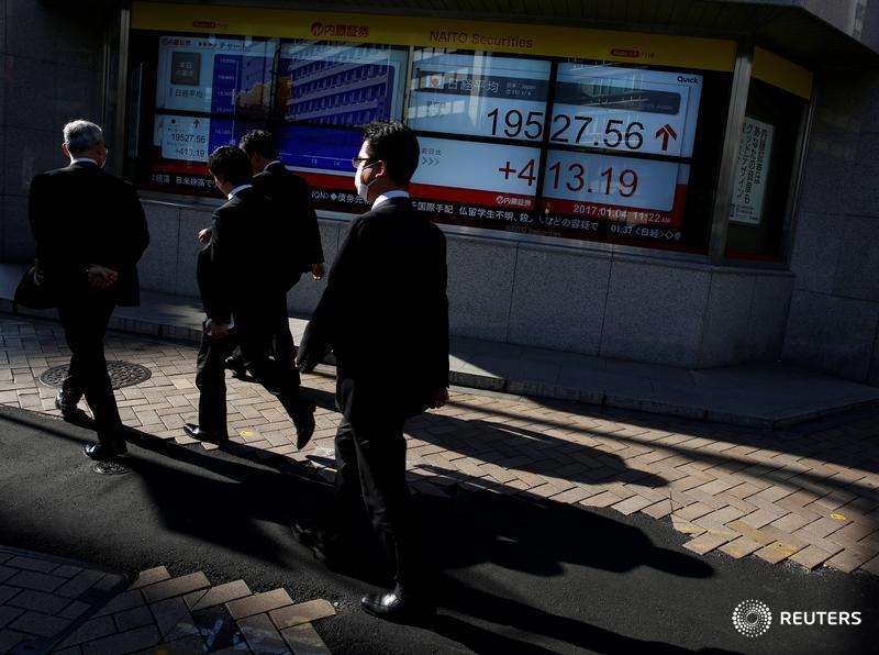 Asia stocks ride global momentum, dollar up on June Fed rate hike bets: