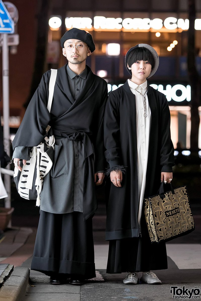 Harajuku Duo In Dark Minimalist Street Fashion By Christopher Nemeth Yu By Jalan Jalan Junya