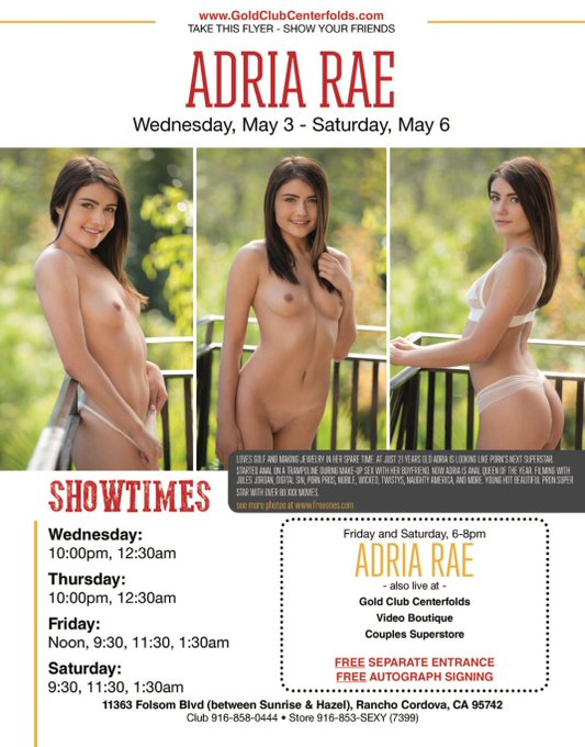 Look who's coming to @CenterfoldsSac this weekend! Go support my girl!! @adriaraexx https://t.co/qTG