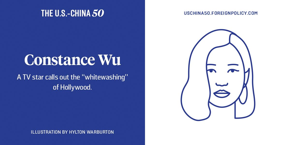 "For calling out the ""whitewashing"" of Hollywood, @ConstanceWu is one of FP's U.S.-China 50."