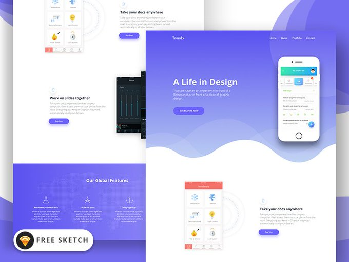 Trandx App    Template by themefisher freebie