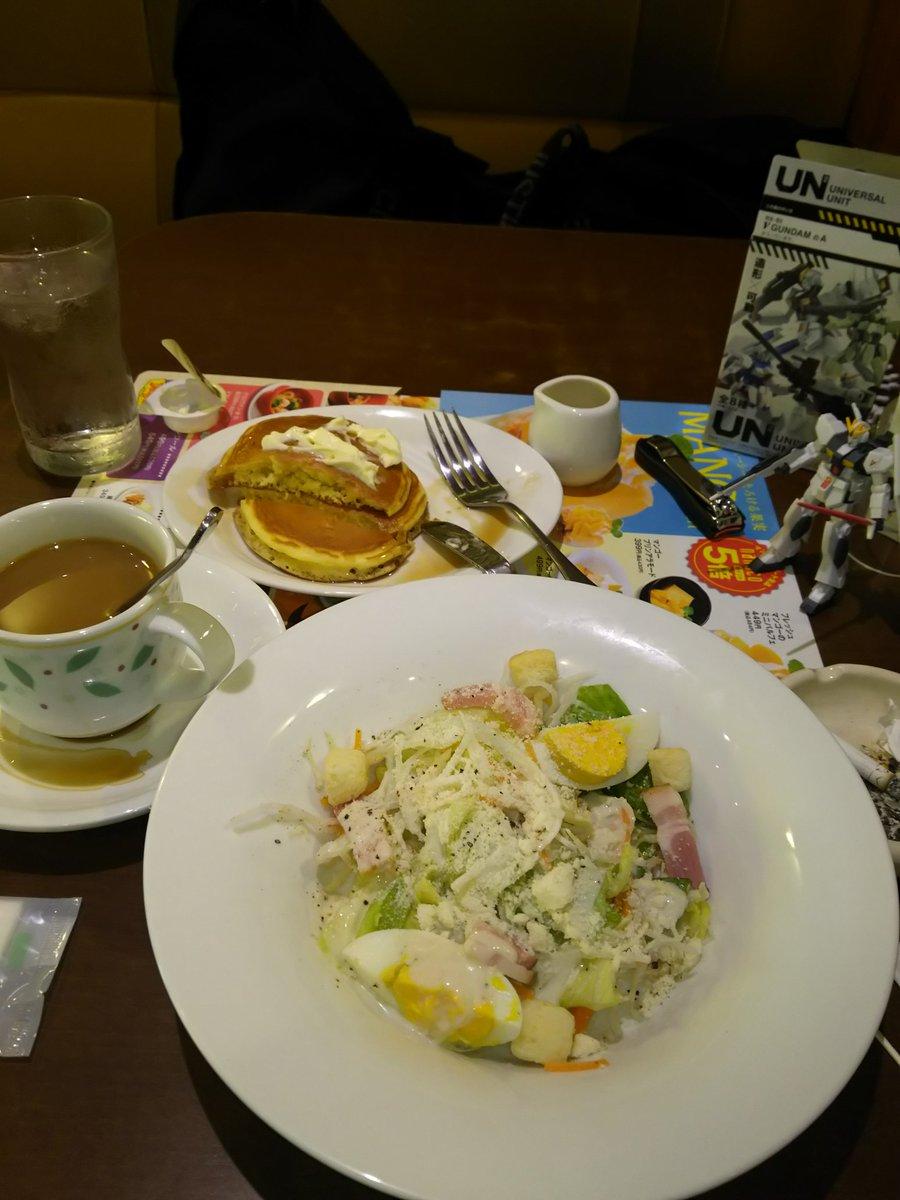 豪華な朝飯🎵ユニバーサルユニットのν[NEU]ガンダムさんと。