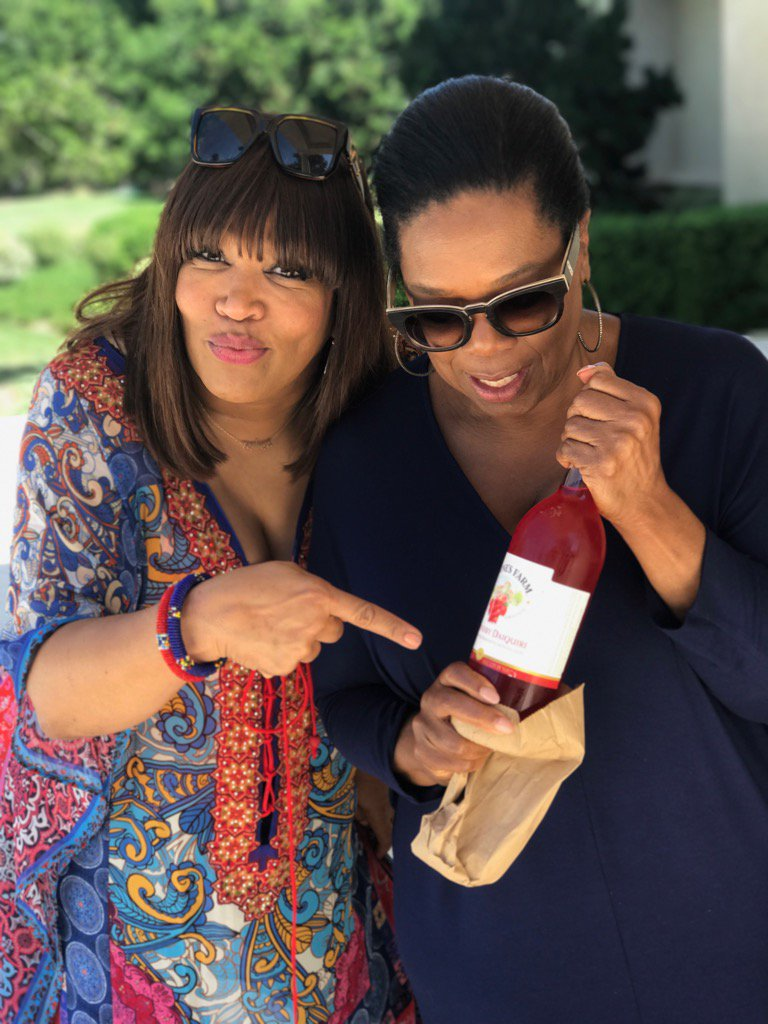 @kymwhitley came to visit bearing gifts. Gonna need this for tonight's #greenleaf finale! https://t.co/dm2vIZ9S5K