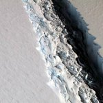 Growing Antarctic crack primes Delaware-sized iceberg