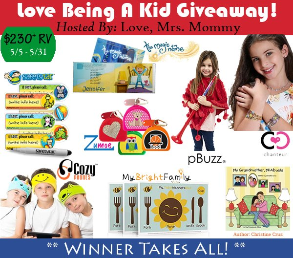 Love Being A Kid Giveaway w/ Over $230 in Prizes!