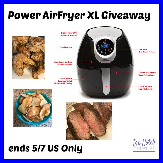 Power Air Fryer 3.4 Quart Air Fryer GA-1-US-Ends 5/7