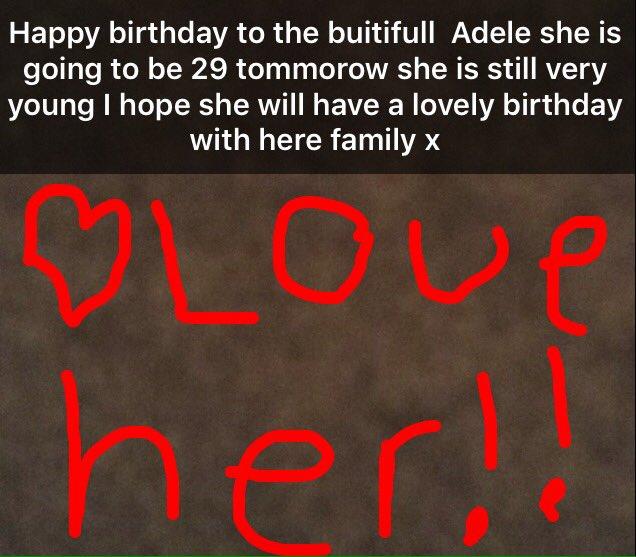 Happy birthday Adele !!!!
