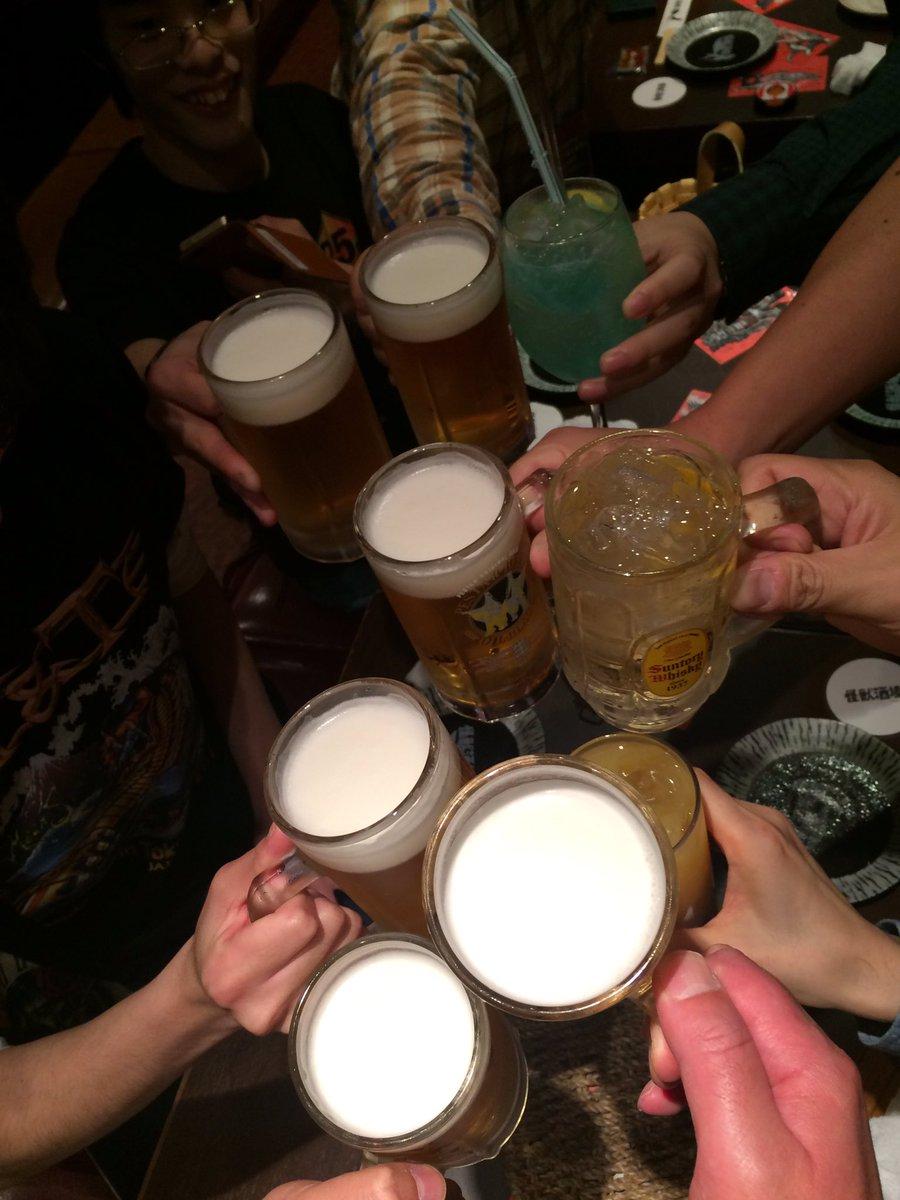FAIR WARNING終了後なぜか怪獣酒場でカンパーイ.。゚+.(・∀・)゚+.゚ #FAIRWARNING #Clu