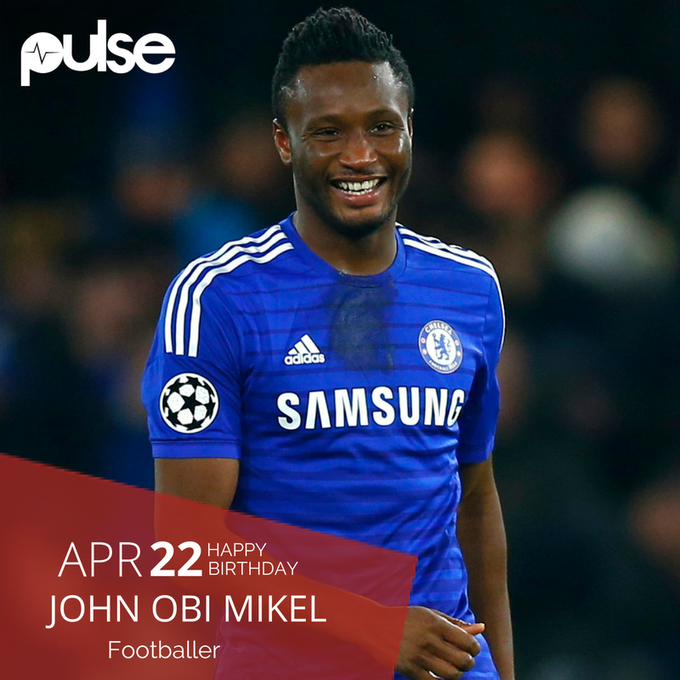 Happy birthday Mikel Obi. Keep shining!! Much love from the Pulse team.
