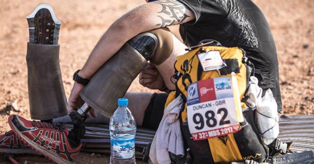 죽음의 '사하라 사막 마라톤' 완주한 의족의 사나이  일반 마라톤을 6회 연속 달리는 것과 같은 강도의 '지옥의 코스' 2009년 아프가니스탄 전쟁에서 두 다리를 잃은 전 영국 중사 완주  https://t.co/WZn7LJbj9j