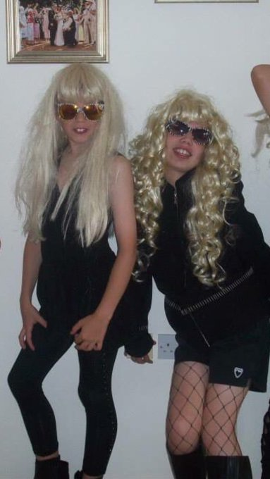 happy birthday bab, see u later lady gaga dress up tonight poss? xx