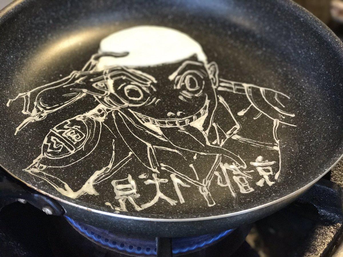 パンケーキアートの作り方〜 弱虫ペダル 御堂筋翔 Yowamushi Pedal Midousuji Akira #pa