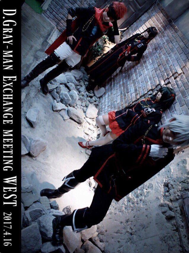 【D.Gray-man】3期ティーンズ扉絵風にカッコ良く撮ってもらった✨✨アレン→黒羽リナリー→くりちゃん( )神田→ト