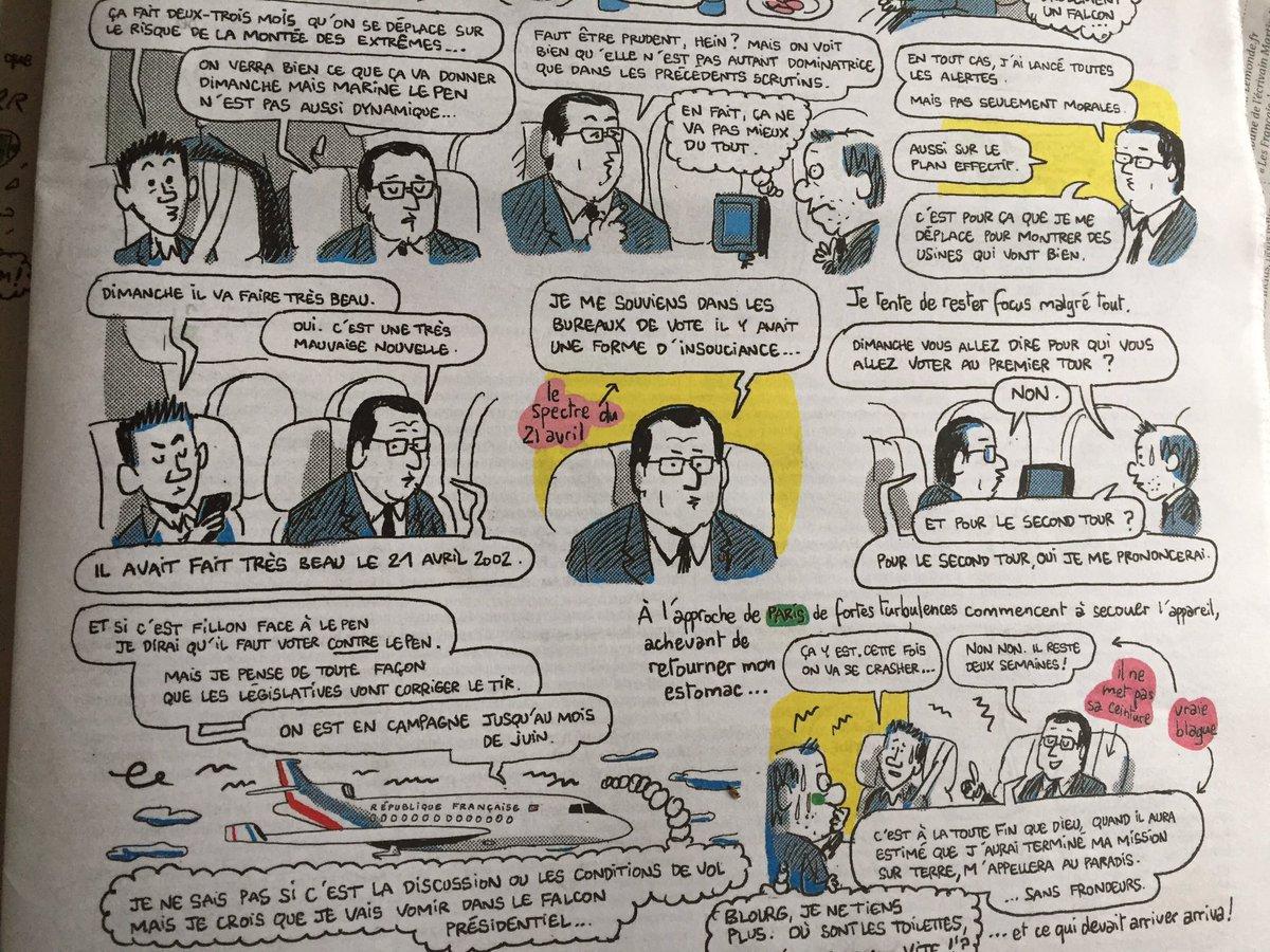 Interview dessinée de Hollande,  aka le président pluvieux,  à Libé : 'Le beau temps dimanche est une très mauvaise nouvelle'.