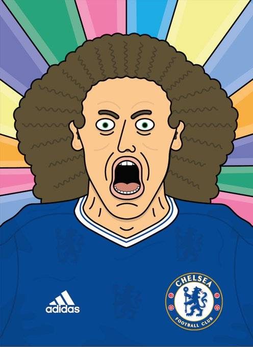 Happy Birthday David Luiz you mad bastard!  Illustration I did for