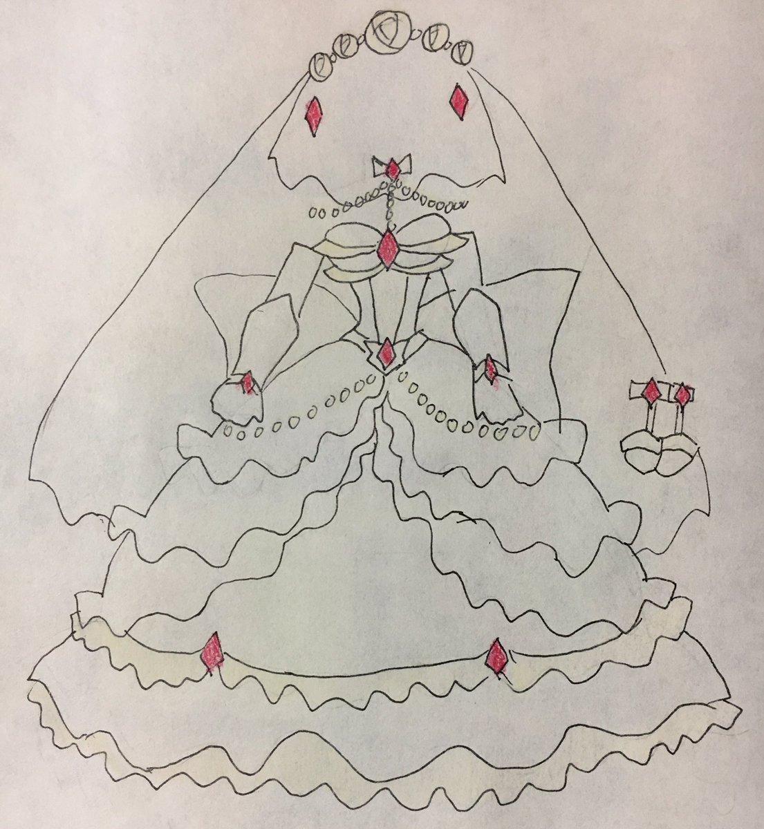 煉獄花嫁衣装のラフ様バージョン完成しました。 #オレカ #オレカバトル