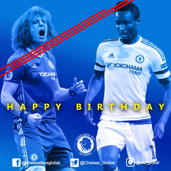 Happy Birthday John Obi Mikel & David Luiz