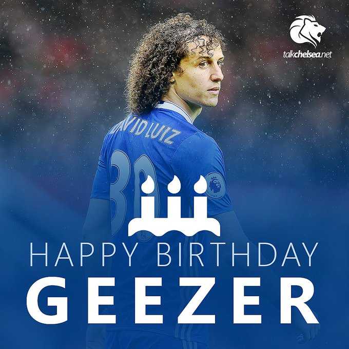 """L Happy birthday David Luiz!"