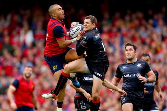 A physical & tight 1st half but this #MunsterRising has Edinburgh within touching distance! #SUAF #MUNvSAR https://t.co/Dx23iWXhIq