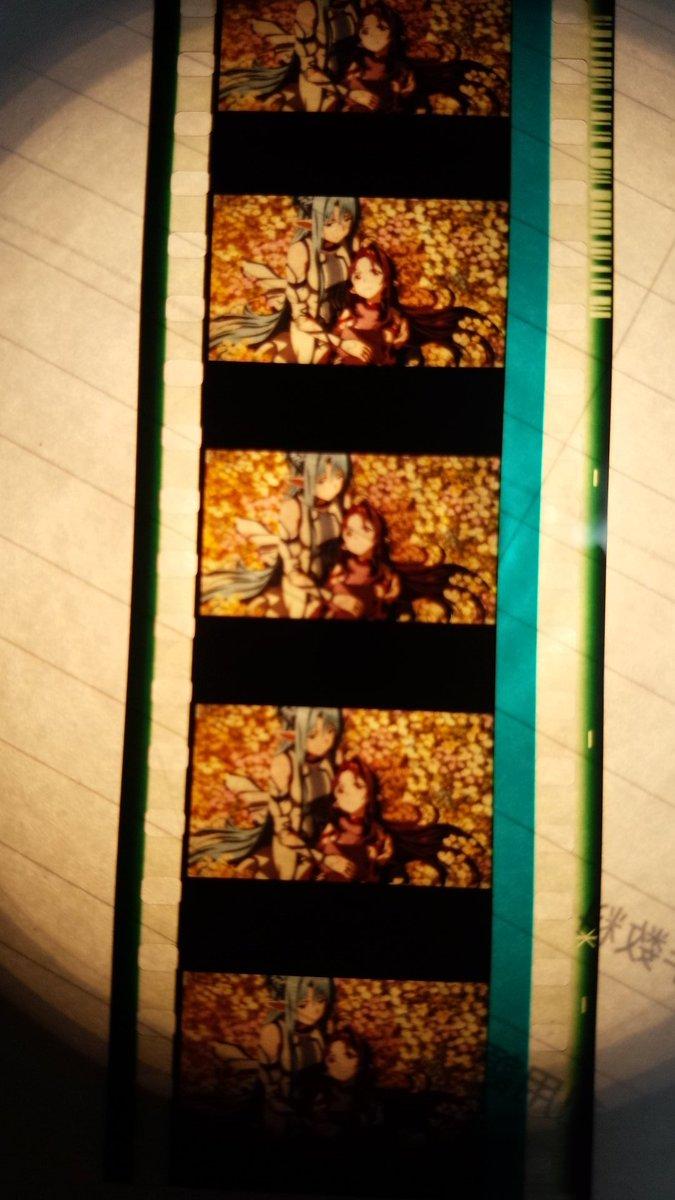 劇場版ソードアート・オンライン-オーディナル・スケール-入場者特典のフィルムアスナ&ユウキのツーショットはイイね(^-^
