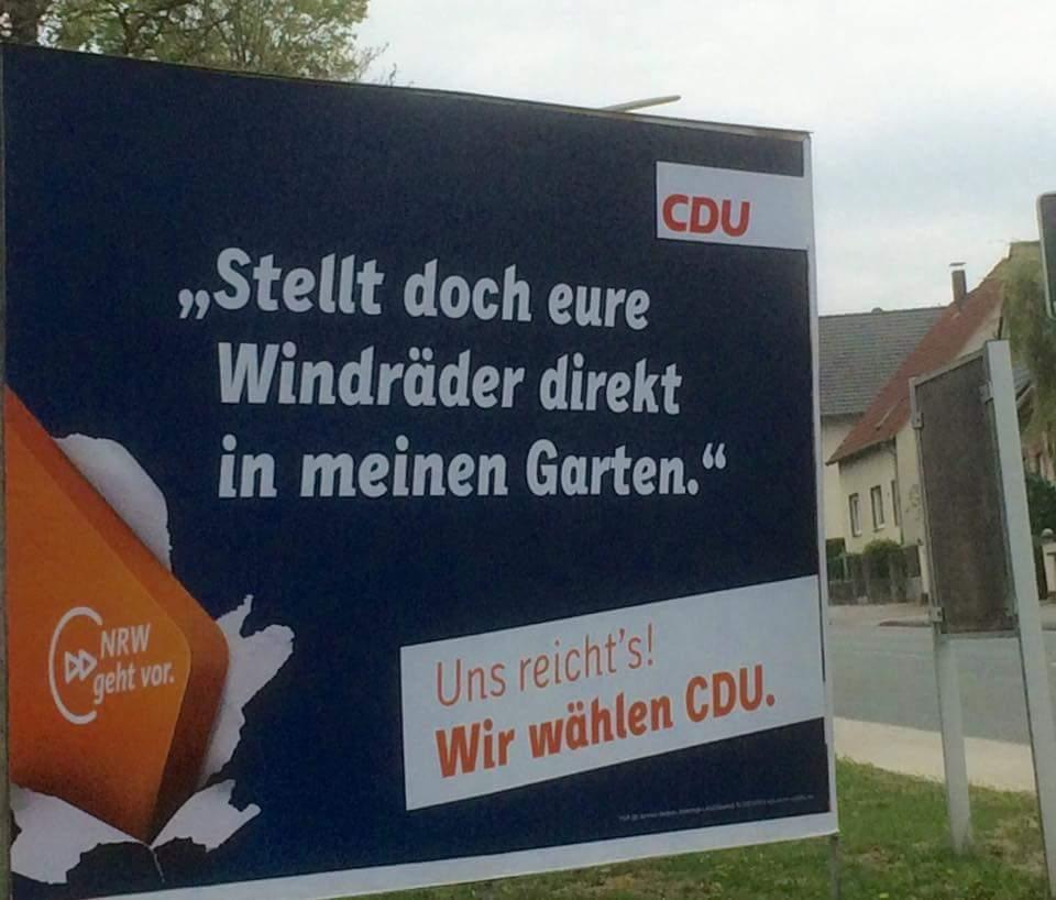 RT @RoHeinrich: Herzerwärmend, wie leidenschaftlich die CDU inzwischen für die #Energiewende eintritt. https://t.co/DjmhN6glum