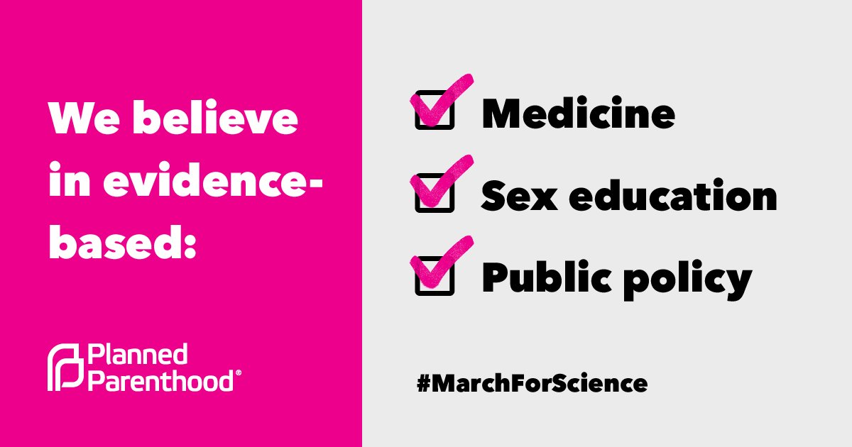 We #MarchForScience because lawmakers must protect access to evidence-based sex health programs.