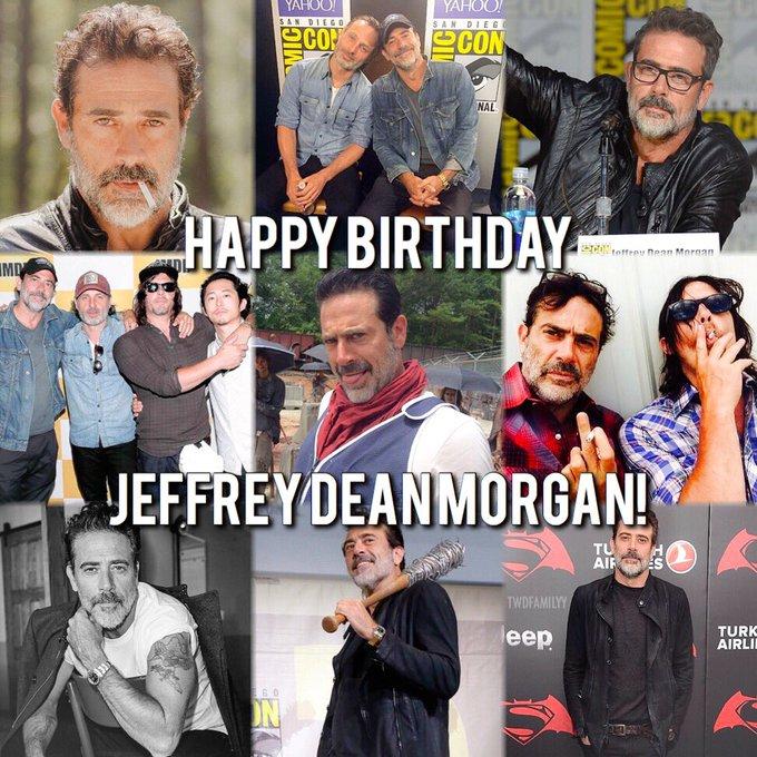 Happy Birthday to the big bad Negan, aka the wonderful Jeffrey Dean Morgan!