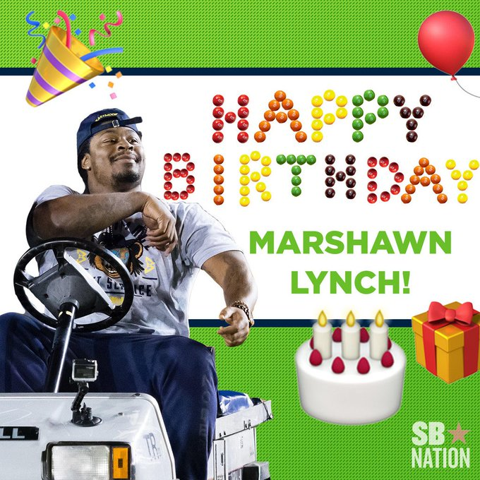Happy 31st birthday, Marshawn Lynch!