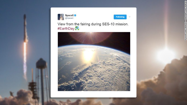 See the incredible view of Earth from SpaceX's historic mission