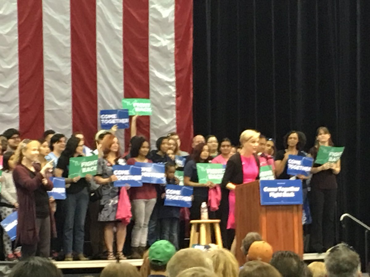 Today, @CecileRichards rallied with grassroots activists and supporters in Las Vegas. #FightBack @SenSanders @TomPerez