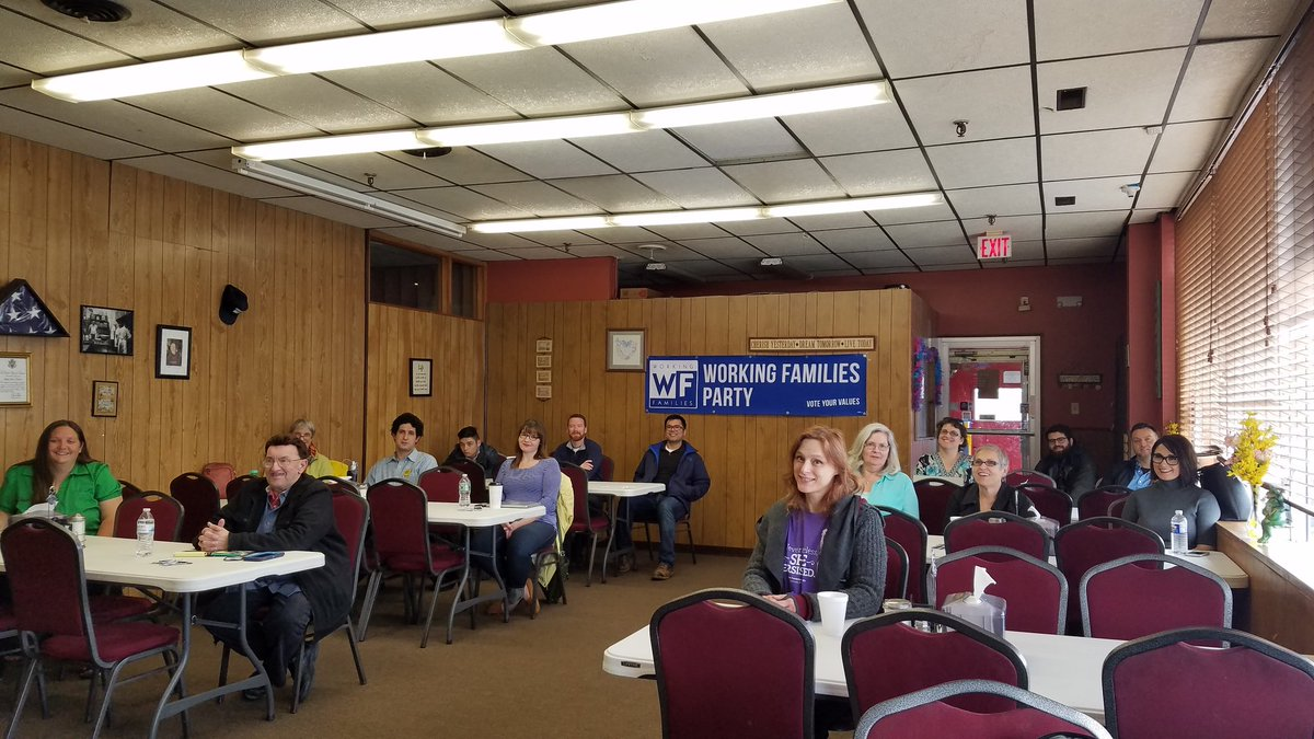 @NYWFP candidate and campaign training in Syracuse NY today. https://t.co/XnXR7Vj4GR