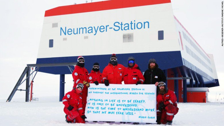 There's a March For Science on all 7 continents-- even Antarctica