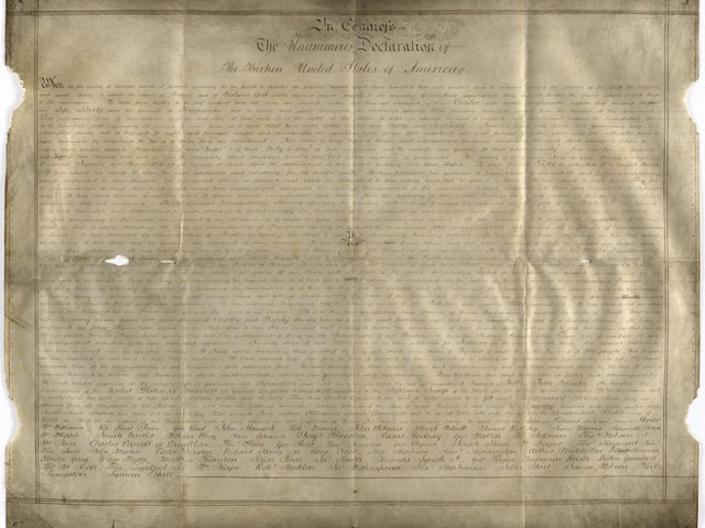 Rare copy of Declaration of Independence found https://t.co/ugkUugDduV
