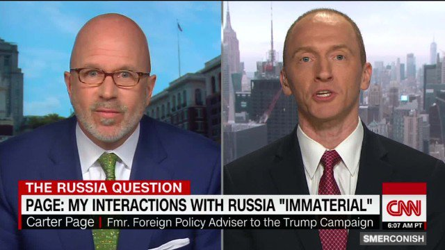 Former adviser Carter Page says reports of Russia trying to infiltrate the Trump campaign are  'false narratives' https://t.co/ZUMM53BqLV