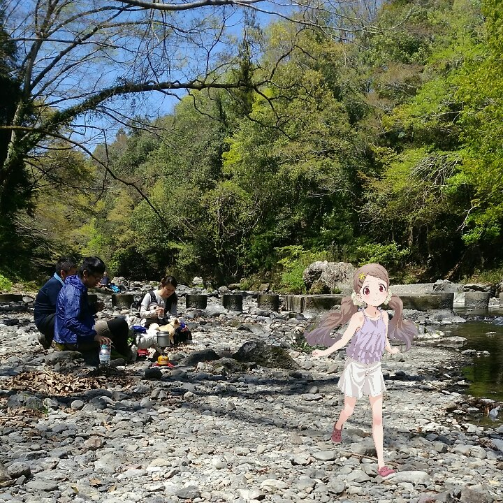 新緑の吾妻峡の美しさ、楽しさ、ここなちゃんは常に神😆💕✨:  #yamanosusume