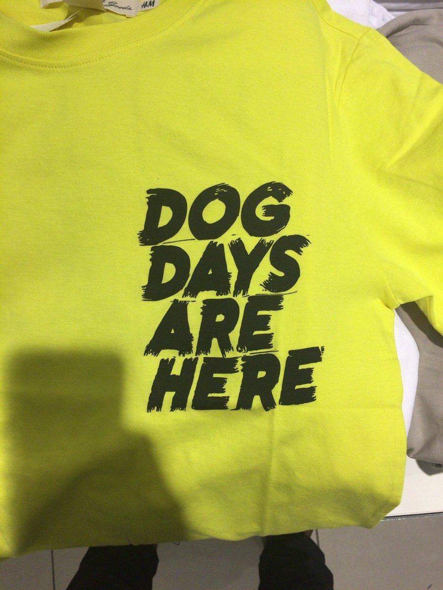 H&MでDOG DAYSオタク向けのTシャツ売ってたから買ってきたんだけどコラボしてたの?