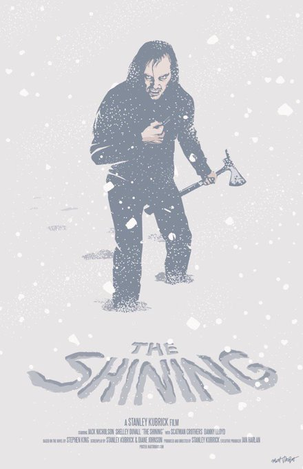 Happy birthday, Jack Nicholson! My poster for one of his many, many amazing films, The Shining.