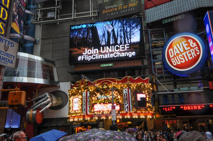 We asked. You answered. We're here in @TimesSquareNYC on #EarthDay showing the 🌎 your bottle flips to #FlipClimateChange