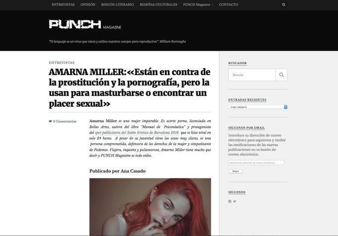 Aquí os dejo mi entrevista para @magazinepunch https://t.co/Yy5ceDWQ85 https://t.co/2Tn0YerTFq