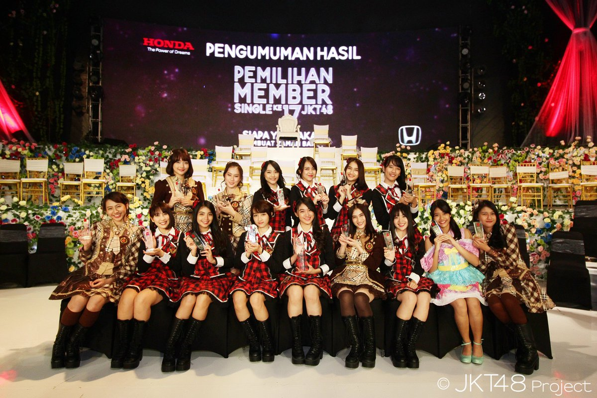 【JKT48】「JKT48選抜総選挙」前回9位近野莉菜は6位にジャンプアップ 3期生シャニが初栄冠