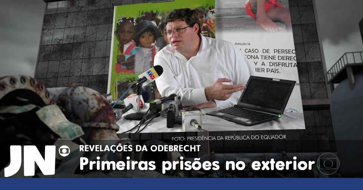 Investigações da Lava Jato provocam a prisão de um ex-ministro no Equador: https://t.co/NVxoSvDEIj https://t.co/xiRvbjs6AA