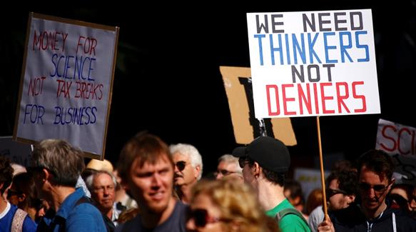 Can people power change political anti-science agenda?