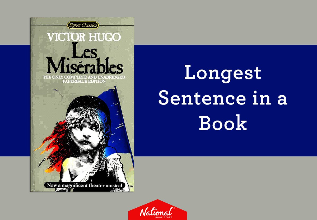 #WorldBookDay Did you know that the longest sentence in Victor Hugo's...