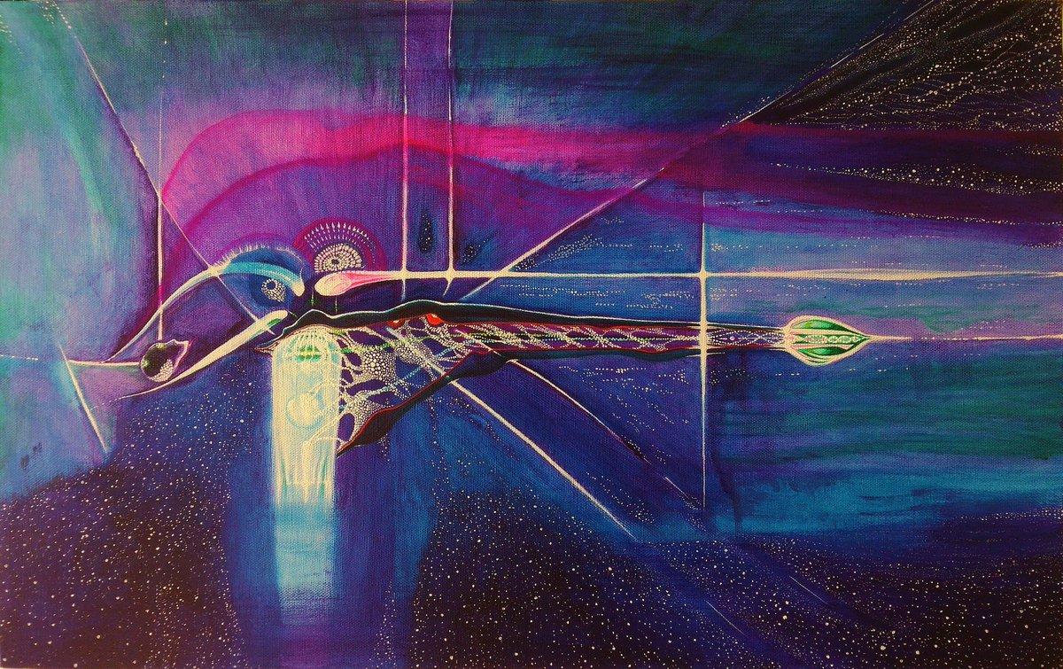【幻の船(Phantom Ship)】#universe #宇宙 #art #artist #アート #絵 #絵画 #s