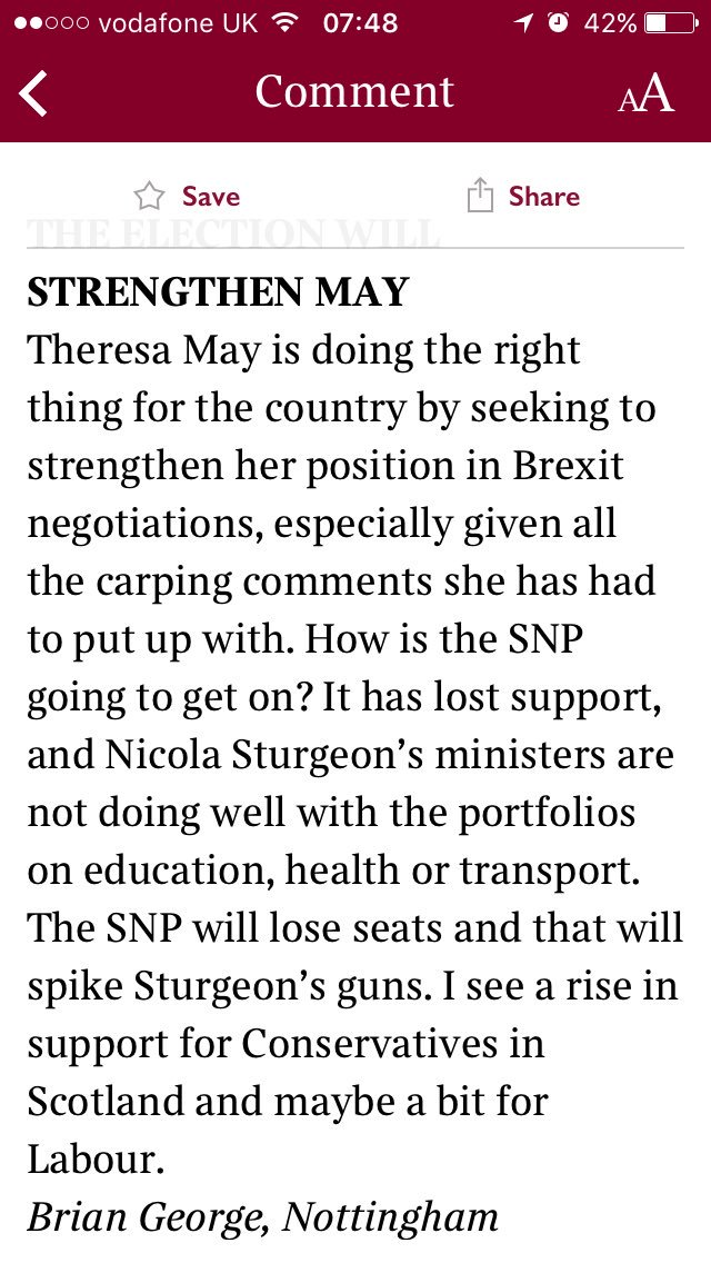 test Twitter Media - A second letter to the Sunday Times. Suspect we've hit #peakSNP along with #peakoil.  #snpout #Brexit #GE2017 #GE17 #GeneralElection2017 https://t.co/KY88edzsd9
