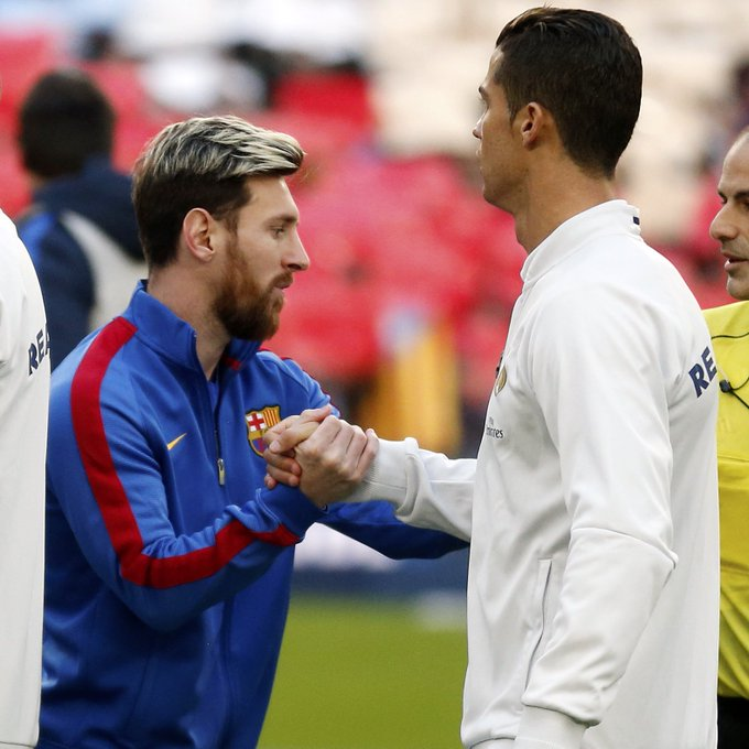 🔥 MATCHDAY!!! ⚽️ Real Madrid vs FC Barcelona 🕘 8.45 pm CET 🏆 La Liga | Week 33 ✈️ Santiago Bernabéu 📲 #ElClásico #FCBLive 🔵🔴 #ForçaBarça